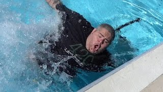 THROWN IN THE POOL PRANK!