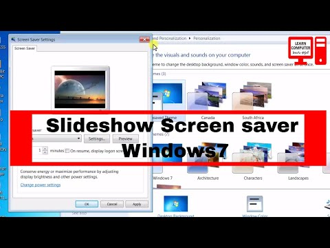 Apply Custom Slideshow Screen Saver on Windows7 in Telugu | LEARN COMPUTER TELUGU CHANNEL