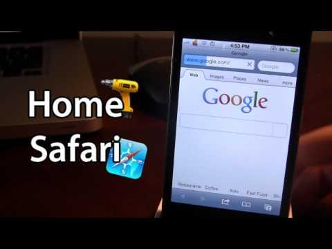 HomeSafari - Safari Home Page (Cydia Tweak)