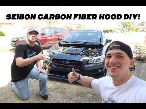 2015 Subaru WRX Seibon CW Carbon Fiber Hood DIY Install!