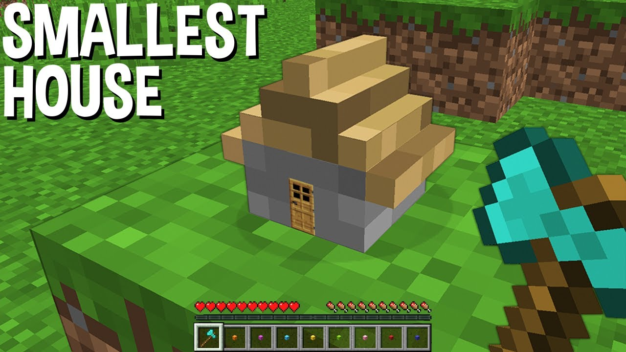 HOW to BUILD SMALLEST HOUSE in Minecraft ???