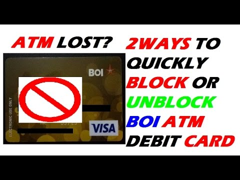 How to Block (Hotlist) or Unblock ATM  card of BOI | Customer care Number Bank of India