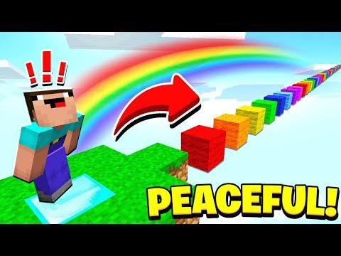 WORLDS MOST PEACEFUL MINECRAFT PARKOUR MAP