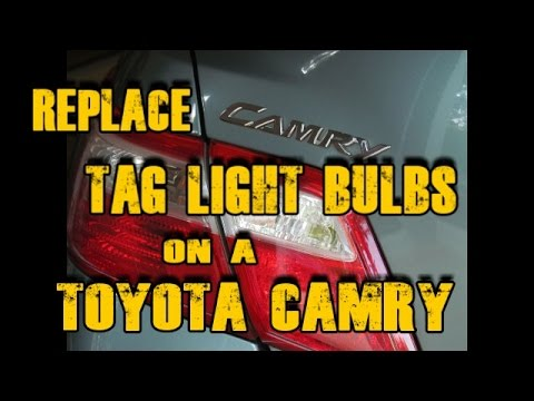 Replace Tag Light Bulbs on a 2007 - 2011 Toyota Camry, Save $60!