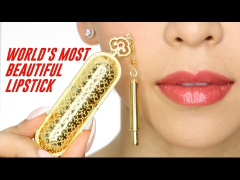 THE WORLD'S MOST BEAUTIFUL LIPSTICK - TINA TRIES IT