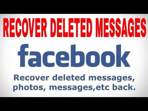 How to recover deleted messages on Facebook 2018 tricks
