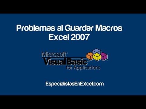 Problemas al guardar Macros en Excel 2007