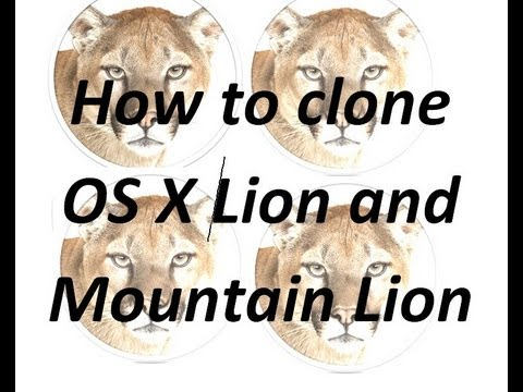 How to clone OS X Lion and Mountain Lion to a USB drive