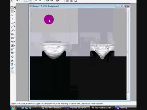 How to change a Nappy / Diaper on the sims 2 (Rainbow bum!) Using Paint shop pro 9!
