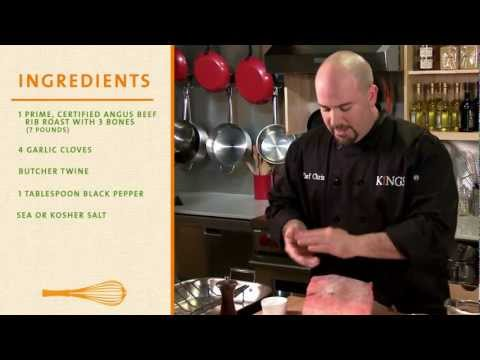 Kings Get Inspired: How-To Videos - Rib Roast with Gorgonzola Cream Sauce