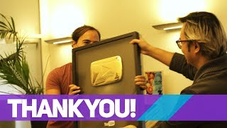 Thanks a million!! - Unboxing the Gold Play Button