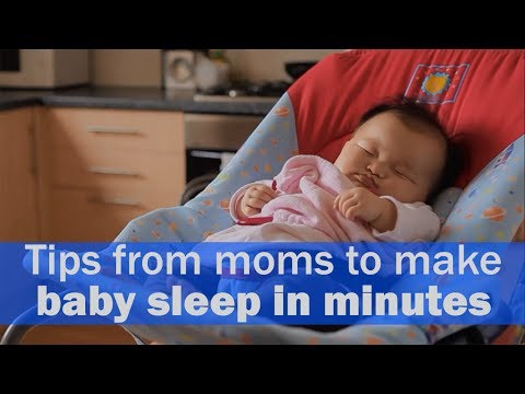 Tips from moms to make baby sleep in minutes