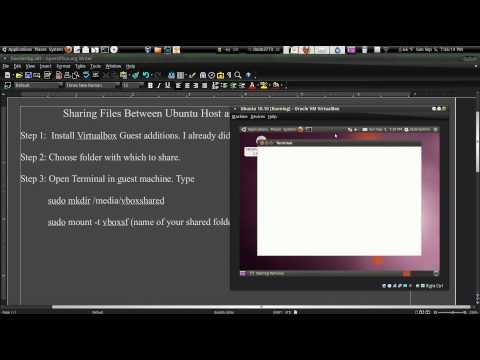 Sharing Files Between Ubuntu Host and Ubuntu Guest In Virtualbox