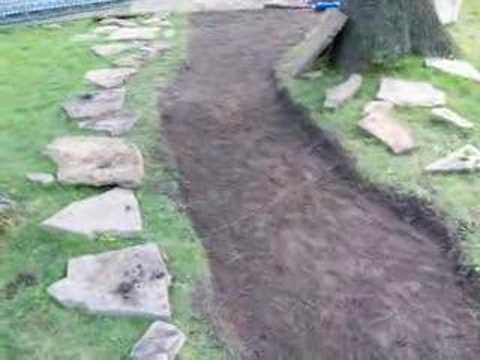 Make a stone walkway