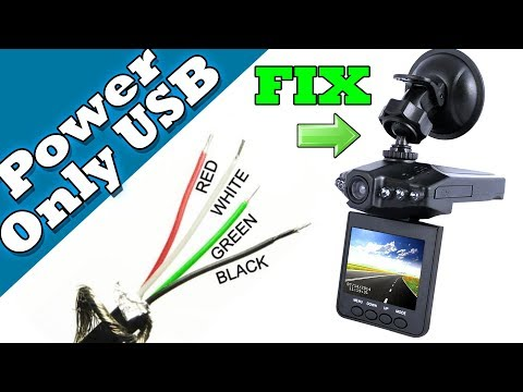 Modify a USB wire to Power a DASHCAM - No PC Mode Tutorial Guide