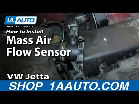How To Install Replace Mass Air Flow Sensor 2001-05 VW Jetta 1.8L Turbo