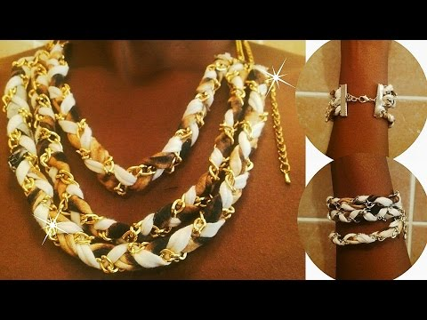 how to-DIY braided bracelet or necklace out of old tshirts!!