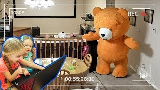 Giant Teddy Bear Caught Moving on Camera!!! We Caught Teddy on Tape! OMG!!!