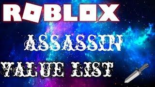 official assassin value list Videos - ytube tv