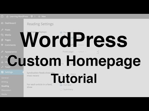 WordPress Custom Homepage Tutorial