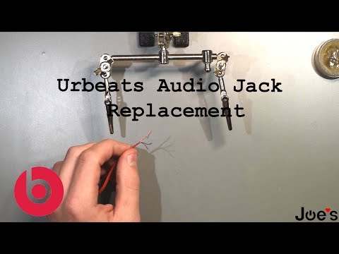 How To Replace Beats By Dre UrBeats Earbuds Audio 3.5MM 4 Pole Jack On