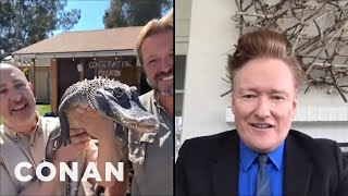 Conan's Socially Distant Animal Expert Segment - CONAN on TBS