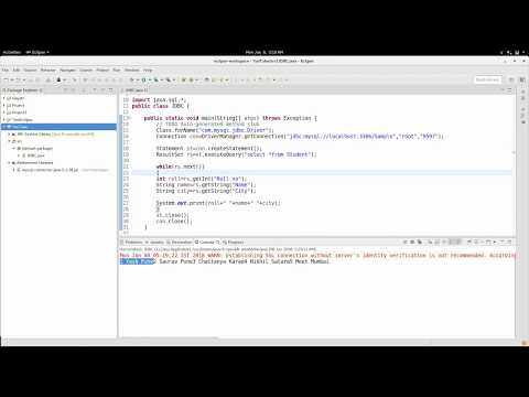 Java and MySQL connection in eclipse (JDBC) by complete concepts