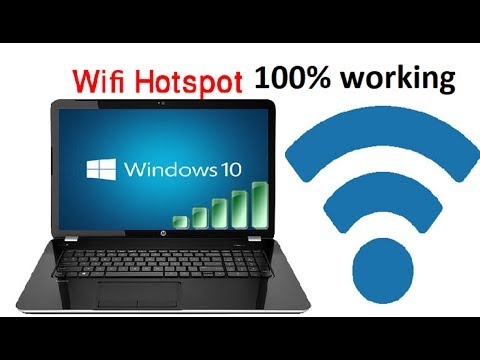 how to create wifi hotspot in windows 10/ using command prompt/without any software