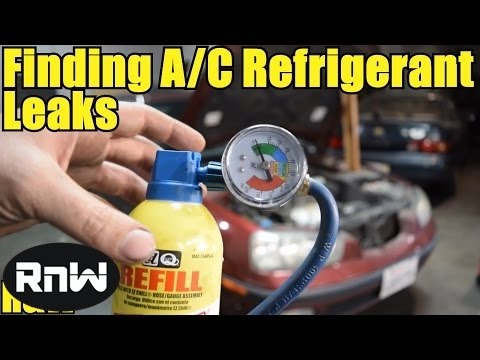 How to Find Small and Large A/C Leaks - Cheap and Easy