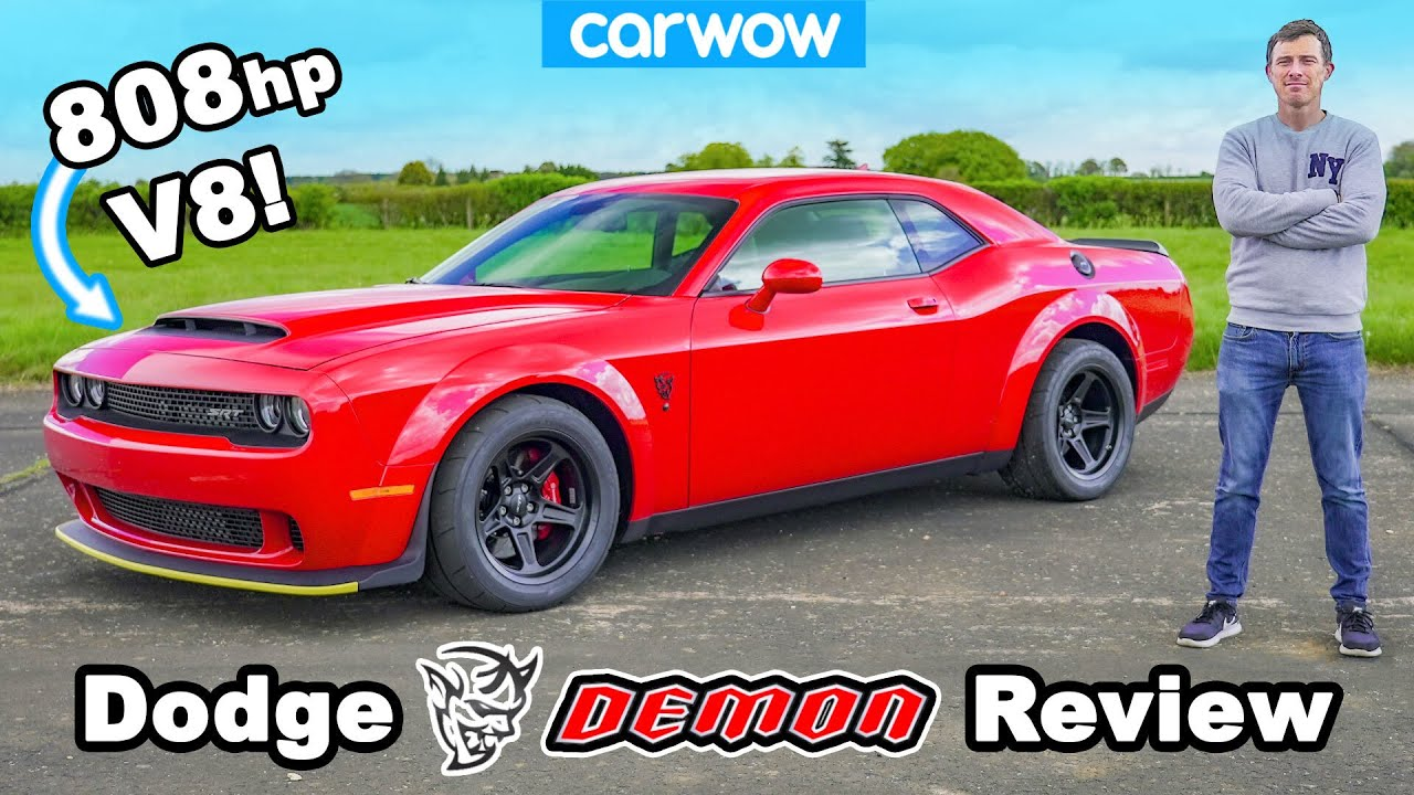 Dodge Demon review - 0-60mph, 1/4-mile, brake & DRIFT test!