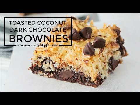 Toasted Coconut Dark Chocolate Brownies