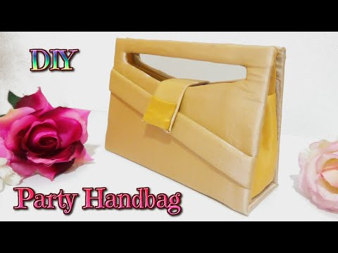 DIY crafts: how to make a easy party handbag with cardboard no sew - handmade - Youtube - Isa ❤️