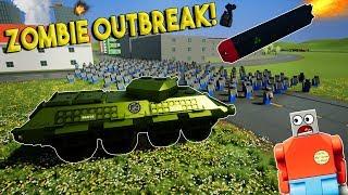 LEGO ZOMBIE OUTBREAK & DESTRUCTION! -  Brick Rigs Gameplay Challenge & Creations