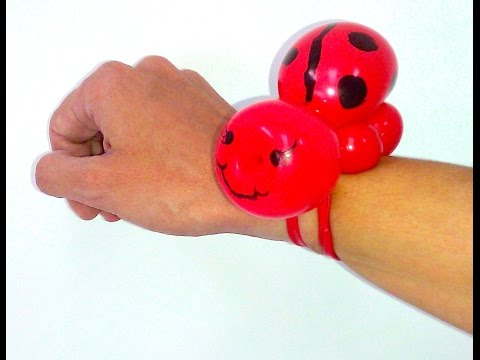How To Make A Ladybug Balloon Bracelet - Balloon Animals Palm Beach