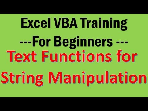 Excel VBA Tutorial 09-String Manipulation with Text Functions in VBA