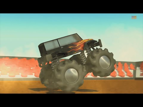 Xxx Mp4 Monster Truck Wheels On The Monster Trucks Go Round And Round Nursery Rhymes 3gp Sex