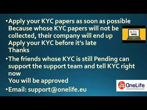 ONECOIN YOU COIN WILL LOSS MUST APPLY YOUR KYC PAPERS