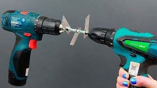 5 ideas with a cordless drill