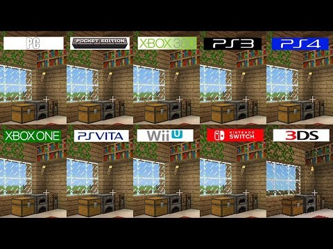 Minecraft | PC 3DS Switch PS4 Vita Pocket ONE 360 PS3 WiiU | All versions comparison