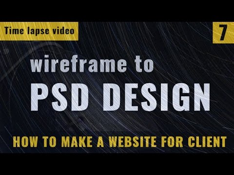 Wireframe to PSD mockup design | timelapse video | How to make a website in Hindi