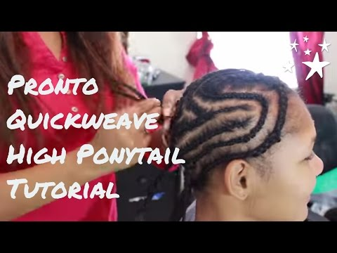 Pt 1 Tutorial for Pronto/ Quick weave For High Ponytail