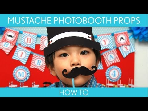 How to Make: Mustache Photobooth Props (Birthday Party) // Mustache - B34