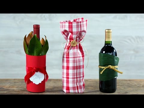 Three Creative Ways to Wrap a Wine Bottle | Southern Living