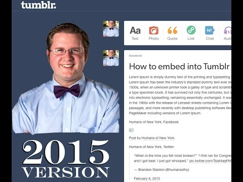 How to embed in Tumblr 2015
