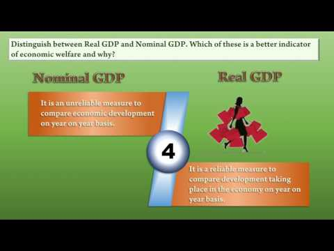Nominal GDP Vs Real GDP ISC 2017 Board Question Answered