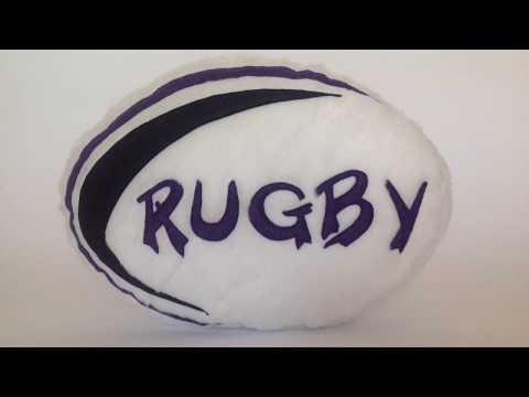 Rugby Plush Cushion