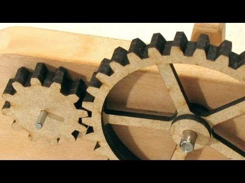 Cutting gears on the laser cutter