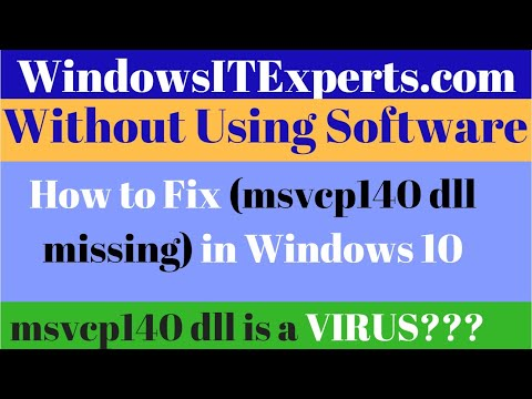 [Fixed]msvcp140 dll missing | msvcp140 dll missing windows 10 | msvcp140 dll missing windows 8