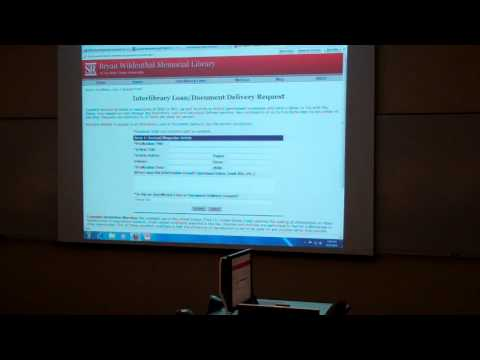 Library Resources for Graduate Students: Part  5