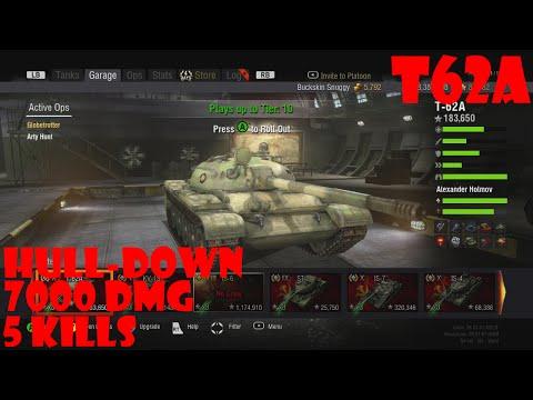 World of Tanks Xbox 360 T62a (#2) hull down vs iron giants